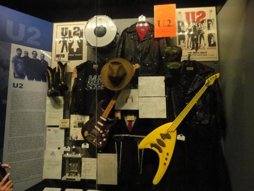 u2yness:  Current U2 display at the Rock and Roll Hall of Fame (04/27/13)
