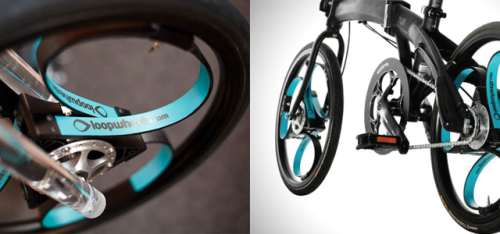 springwise:  Spokeless wheels bring full suspension to foldable bikes Foldable bicycles may bring unsurpassed convenience to the pedal-powered commuting world, but with their attractive flexibility can sometimes come a price in comfort. Integral suspension systems are often sacrificed for that foldable convenience, but the Loopwheels – a spokeless wheel from UK-based Jelly Products – aims to offer a more comfortable ride. READ MORE…