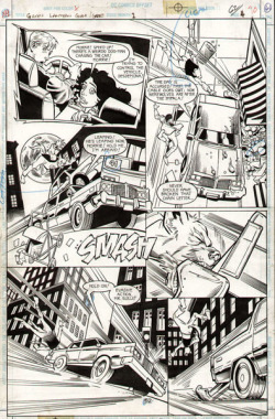 cadencecomicart:   Green Lantern, Issue 80, Page 61 by Steve Ellis.  Original art available for sale HERE