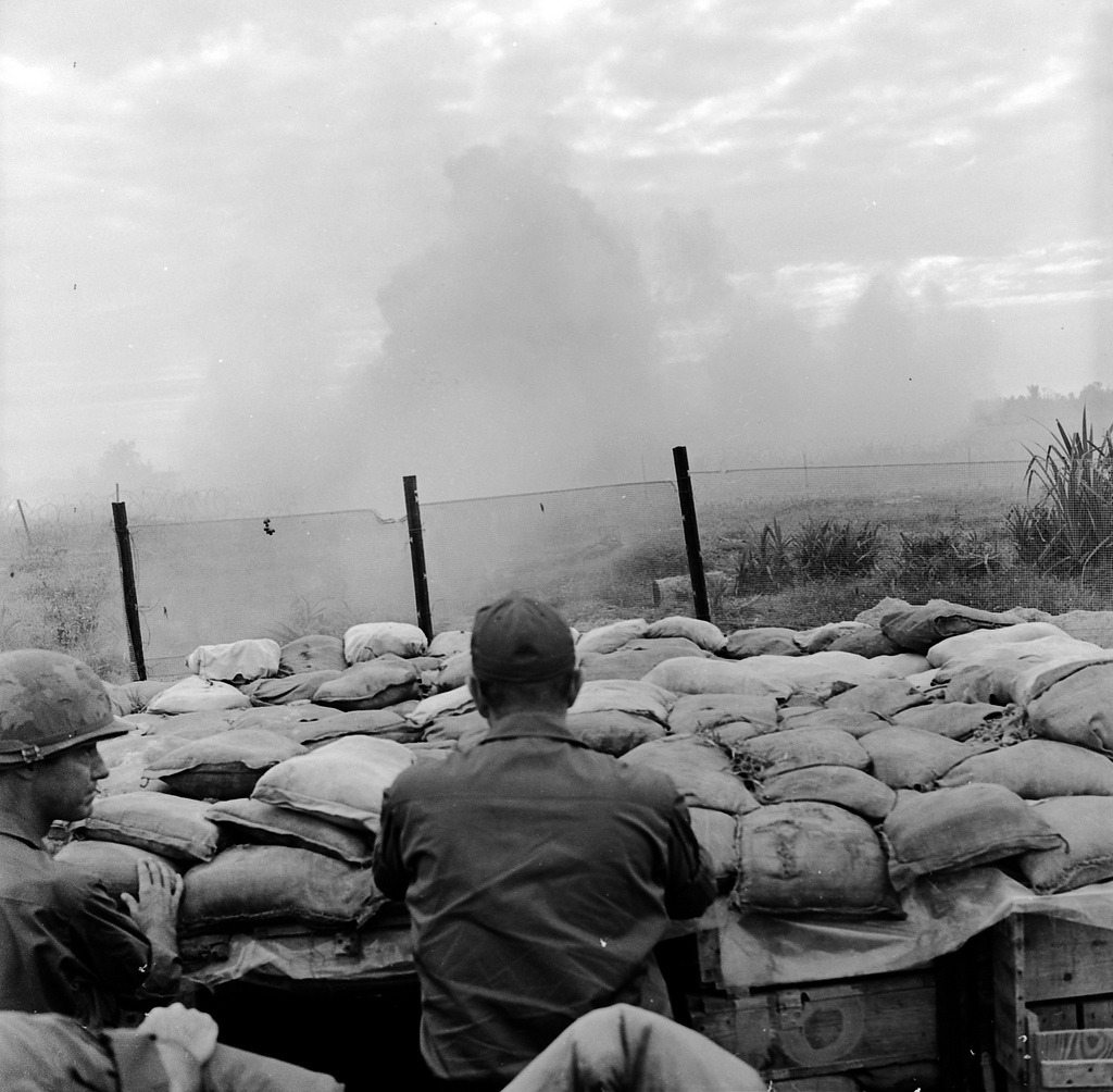 A colonel and a visiting 4-star general view a perimeter defense demonstration at Fire Support base Pershing. We have four new images from The Chieu Hoi collection on our Flickr page.