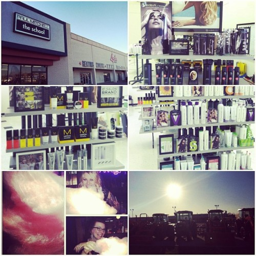it was a beautiful day sharing some love at #PMTS Ardmore! brought me back to my small town roots! ✌💗 #greatday #paulmitchell #branding #takehome
