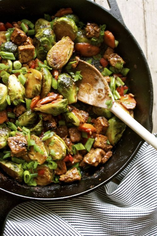 butterflygrace:  (via Recipe: 15 Minute Brussels Sprout & Tempeh Stir-Fry | In Pursuit of More)