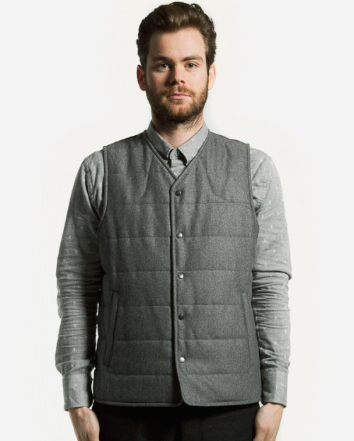 free-man:  Quilted Wool/Cashmere Vest from wings + horns