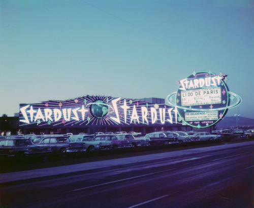 ckck:   Stardust Hotel and Casino, Las Vegas, Nevada, circa 1958.
