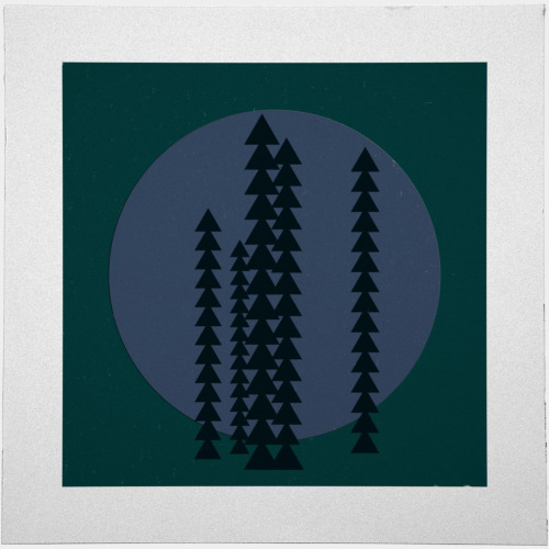 geometrydaily:  #429 Mountain trees at night – A new minimal geometric composition each day