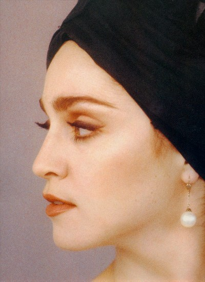 #Madonna Turban, Pearl Earrings and Eyelashes 1988