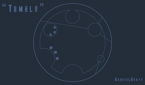 "gabrielgrayy:  So uh. This is the word ""Tumblr"" in Circular Gallifreyan. :D"