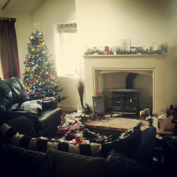 Merry Christmas #home #christmas #fire #tree #family #countryside