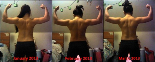 barbellbeauties:  Emi's back progress!