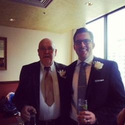 My Grandpa and I at the wedding on Saturday. (at The Ritz-Carlton Chicago)