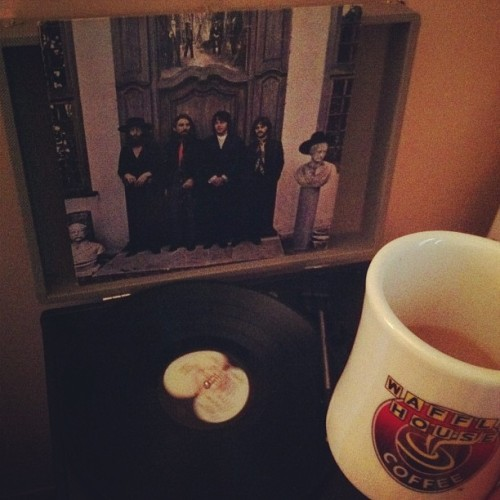 Good morning 🎶☕ #coffee #beatles #bestmorningever