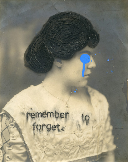 Samuel Quinn, Remember To Forget, from the series Drip, 2012 This photograph is on display in the Panopticon Gallery HIGHLIGHTS exhibition from April 3 - May 13, 2013.
