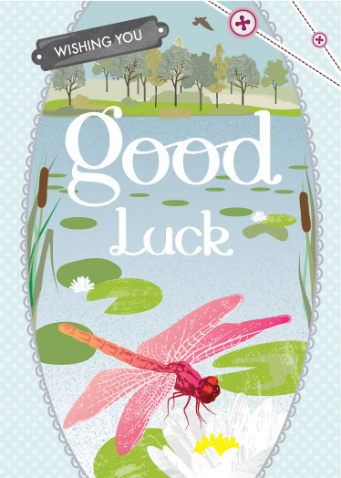 New 'Good Luck' Greeting Card