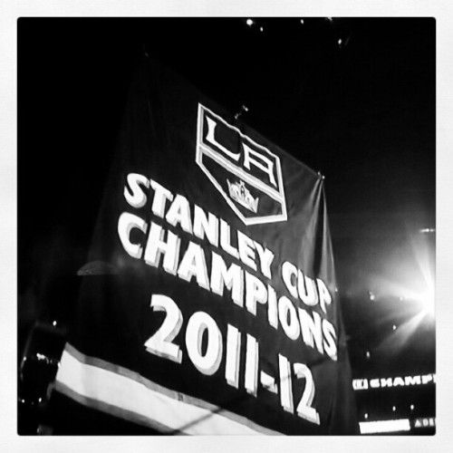 Los Angeles is the City of Banners. #kings #lakings
