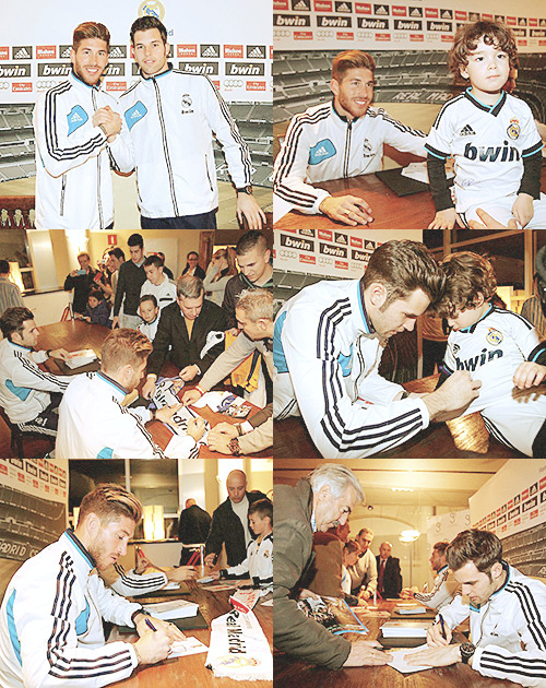Sergio Ramos & Jesús signed at the hotel in Granada | 01-02-13