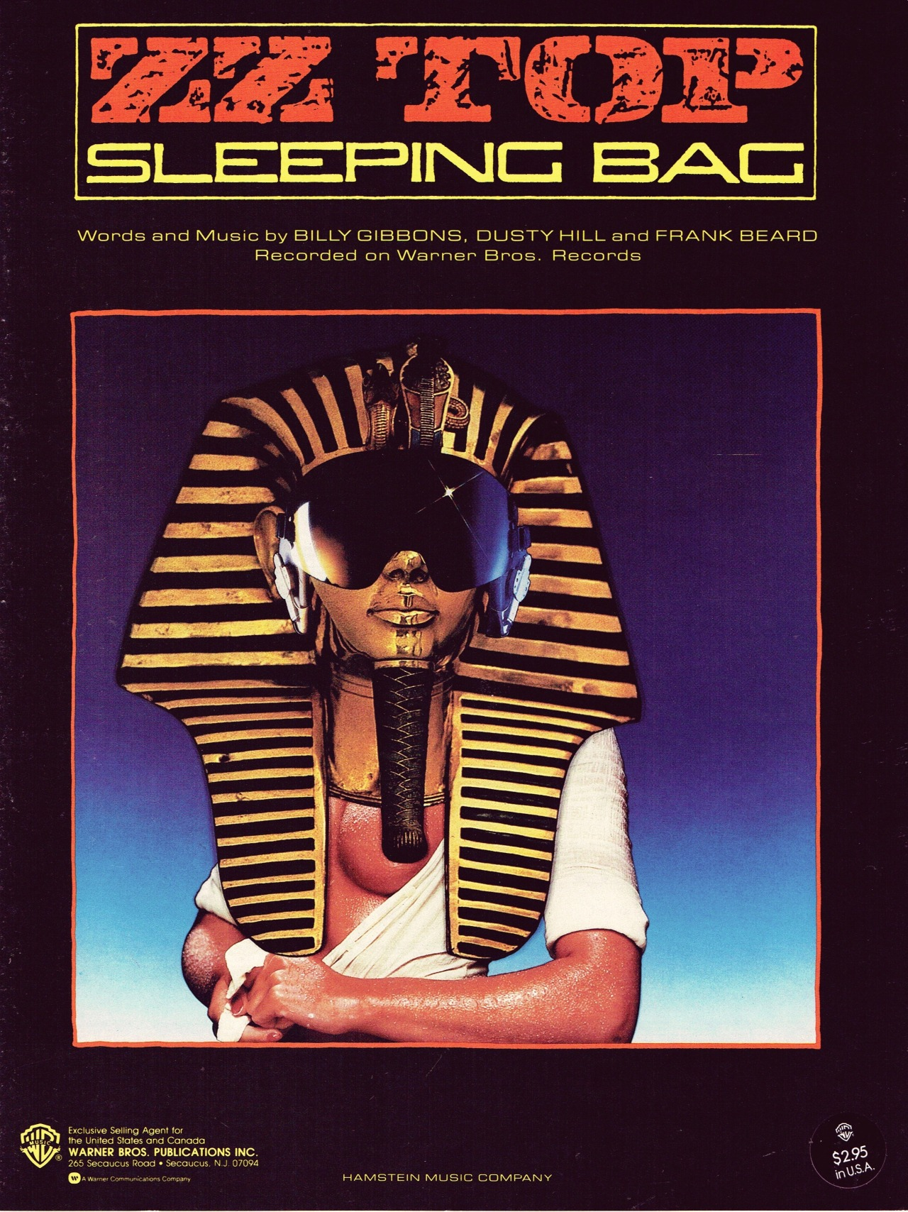 Sleeping Bag / ZZ Top (1985) #sheet music#sheetmusic#1980s music#music