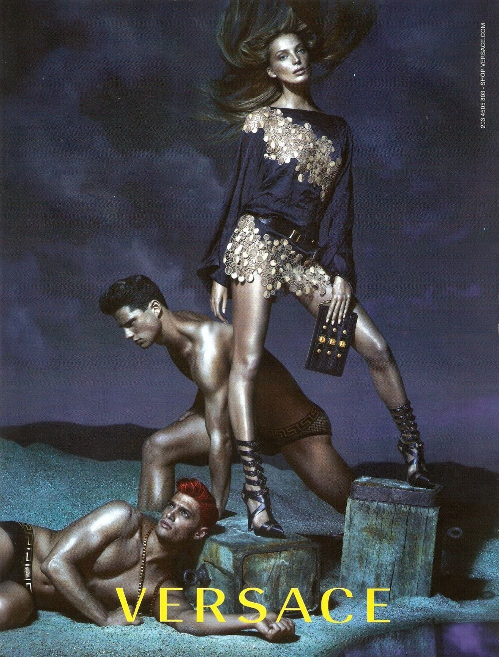 midnight-charm:  Daria Werbwoy for Versace S/S 2013