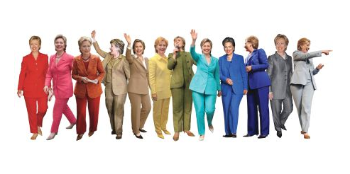 Someone on @reddit made a Hillary Clinton Pantsuits Rainbow, and it's beautiful. Via @pourmecoffee.