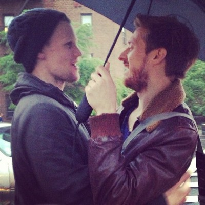 hipster-rawry:  @mitchroutman got the most darling photo of @rattyburvil and #mattsmith reuniting! #doctorwho love (x)