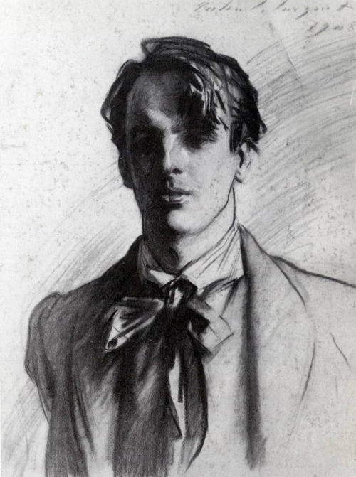 likeafieldmouse:  John Singer Sargent - Portrait of William Butler Yeats (1908)