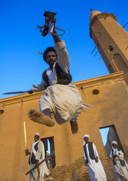 Beja Tribe Men Dancing In Front Of The Khatmiyah Mosque At The Base Of The Taka Mountains, Kassala, Sudan by Eric Lafforgue on Flickr.
