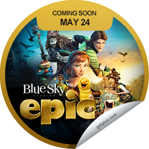 I just unlocked the Epic Coming Soon sticker on GetGlue                      8693 others have also unlocked the Epic Coming Soon sticker on GetGlue.com                  Get ready for an epic good time! Epic opens in theaters everywhere on 5/24. Be sure to check it out.  Share this one proudly. It's from our friends at 20th Century Fox.