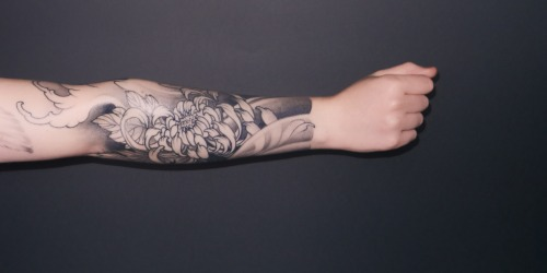 fuckyeahtattoos:  My tattoo was done by Sylvain in Rennes (France), it is a cover of an old tattoo that I didn't want anymore.