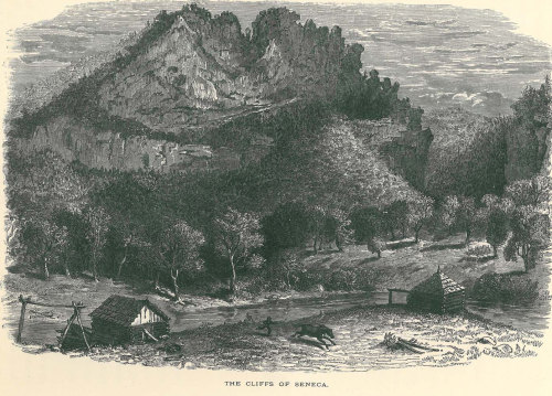 1895 The Cliffs of Seneca Antique Print Picturesque America Engraving Art at CarambasVintage http://etsy.me/16KKusk