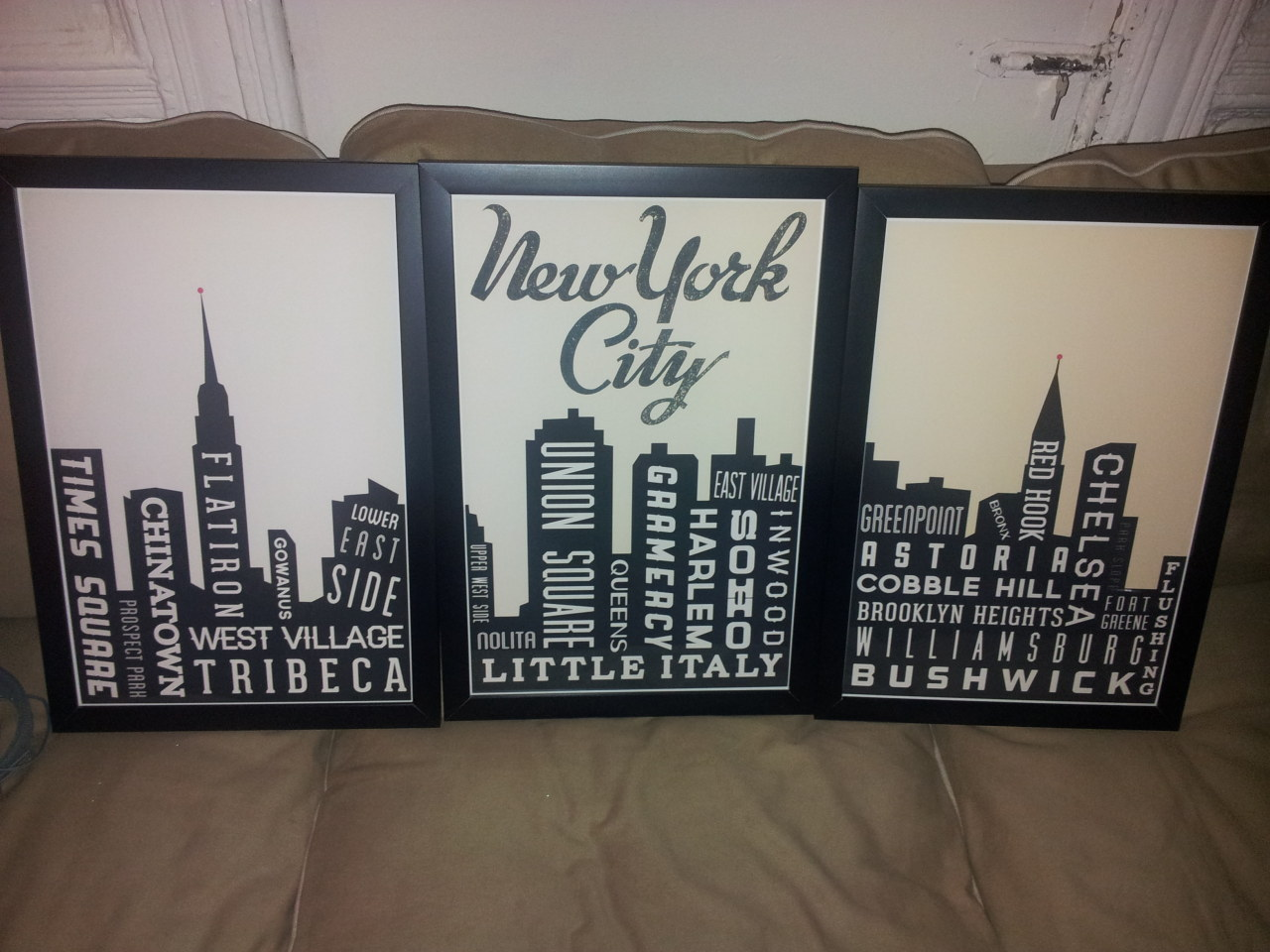More artwork for my apartment. Not sure where to put it, yet.  Also, sadface that my neighbourhood isn't actually on here. Oh well. Neither is Bed-Stuy. Fort Greene is, and it's just a few blocks away.  There's more in the shop (GoingUnderground), including for other cities I know some of you are from.