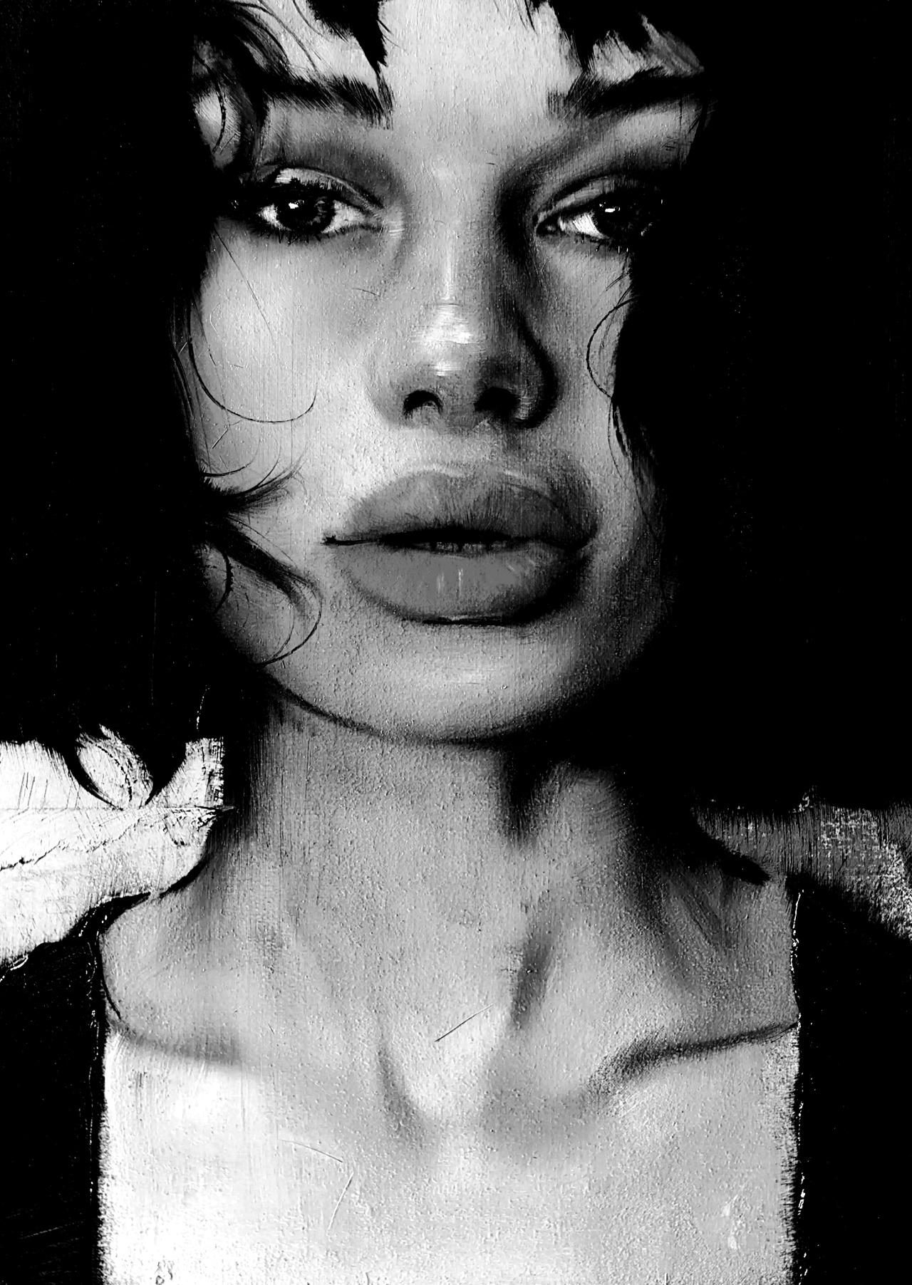 J Louis Pillars, 2020 16 × 12 in / 40.6 × 30.5 cm #j louis#art#paintings#portraits#art edits#faces