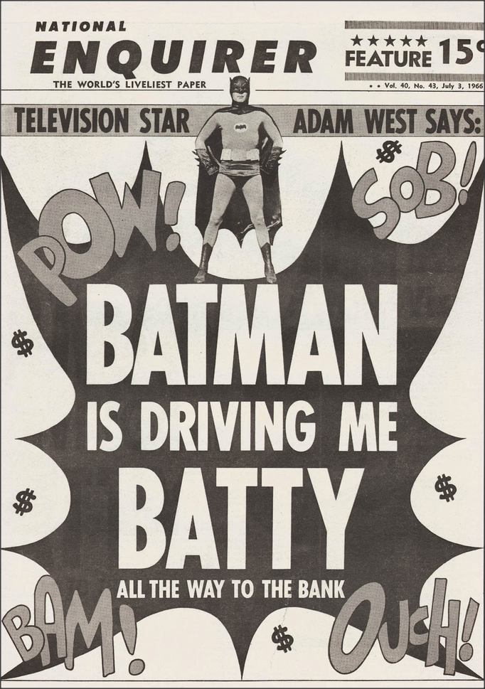 Batman in the National Enquirer, 1966 My Favorite Year