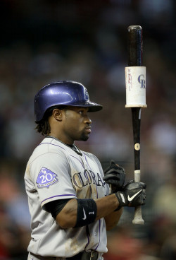 colorado-rockies:  Eric Young (Colorado Rockies Vs. Arizona Diamond Backs)