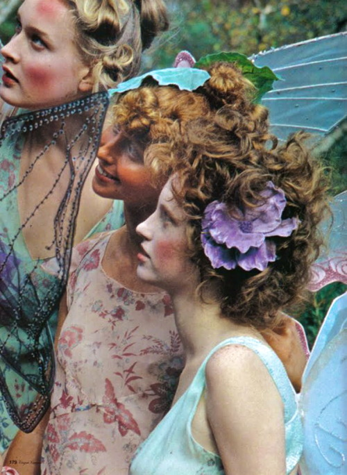 chiffonandribbons:  Tinker Belle's Forest in Vogue Nippon March 2002, photographed by Koto Bolofo