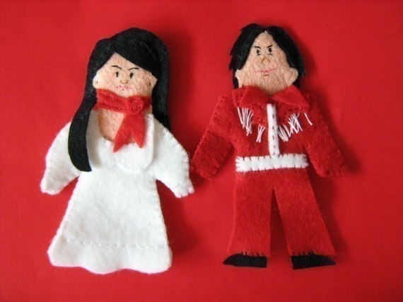 Jack and Meg Finger Puppets!!!!! they look really mad though….