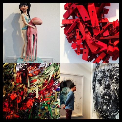 more from artMRKT over the weekend. ribbons, toy soldiers & faces…oh my! #sf #sanfrancisco #artMRKT #art #events #artgalleries #sculptures #paintings #toys  (at Fort Mason)