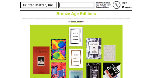 """Printed Matter have made us a """"Table""""! Go check it out We also now have our own section within the actual store. Thanks Printed Matter! Stoked!"""