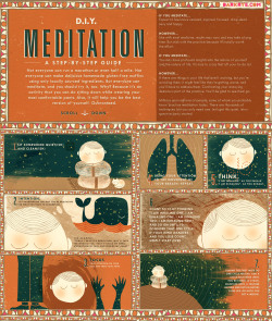 dark-rye:  D.I.Y. Meditation: A Step-by-Step Guide at DARK RYE's Ritual Issue   Not everyone can run a marathon or even half a mile. Not everyone can make delicious homemade gluten-free muffins using only locally sourced ingredients. But everyone can meditate, and you should try it, too. Why? Because it's an activity that you can do sitting down while wearing your most comfortable pants. Also, it will help you be the best version of yourself. Guaranteed.    Do you meditate? Many entrepreneurs swear by meditation and simple breathing techniques to get them through the stress of building a company.