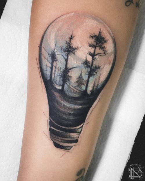 Dener Silva br;splatter;lamp;tree