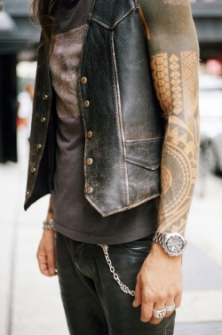 Tatts and vest
