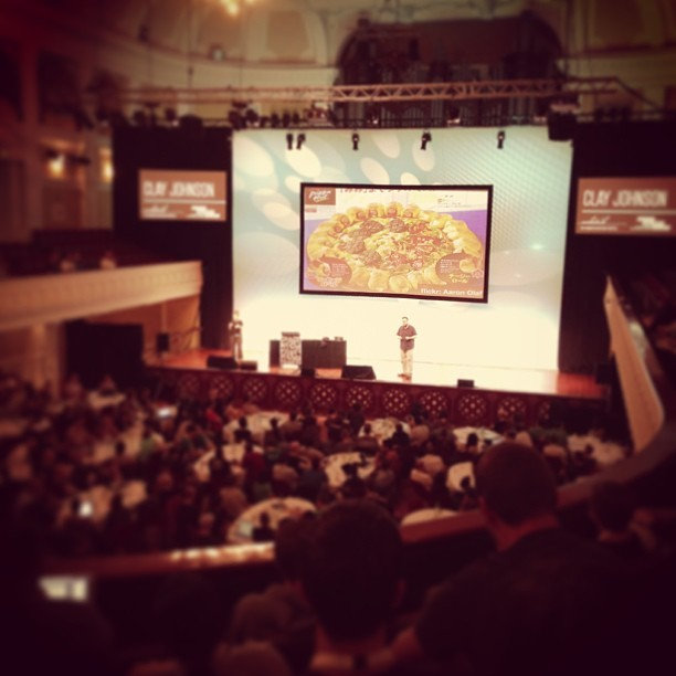 "Industry create popular ""items"" base on role demand… #webstock @cjoh (at Wellington Town Hall)"