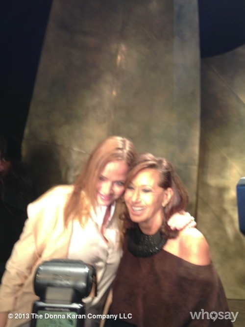Uma and Donna hugging it out View more DKNY PR GIRL on WhoSay