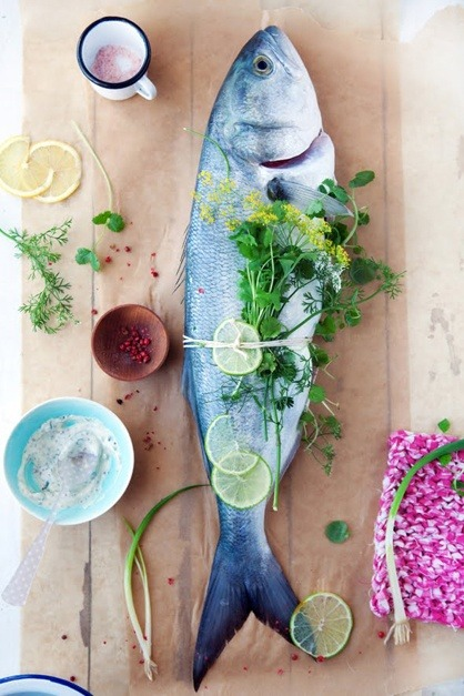 mepe2:  foodstuff, fish, herb, weekend meal inspiration