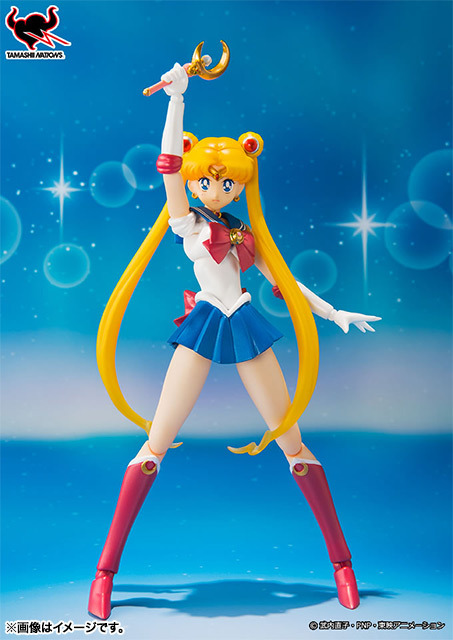 ohnoraptors:  S.H.Figuarts セーラームーン Price(with tax): 4,410円 Release Date: 2013年08月 Winking and crying face are first release bonuses.