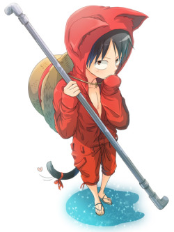 nekoni-klonoa2:  Luffy By Onemani Movie Island Mano Costume+neko