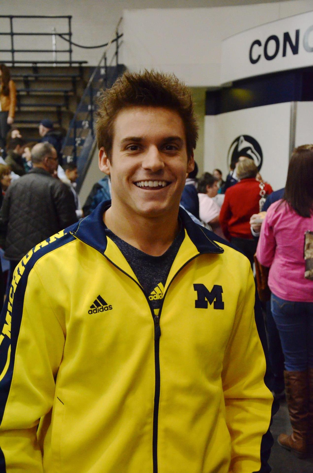 OLYMPIC GYMNAST Sam Mikulak everyone. Yes, I took this picture and he was really nice. He even taught my friend flip cup….my night was great all around because of this and many other things. Good morning everyone.