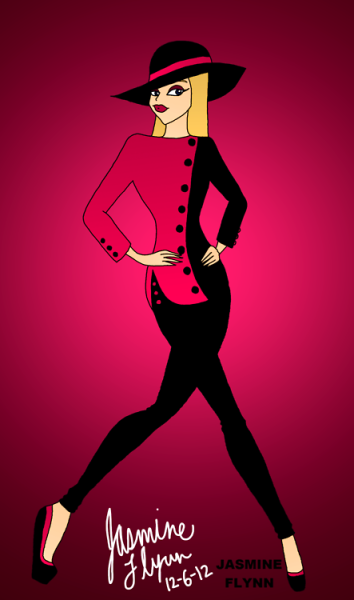 Pink and Black Outfit. a digital drawing by me, Jasmine Flynn :)