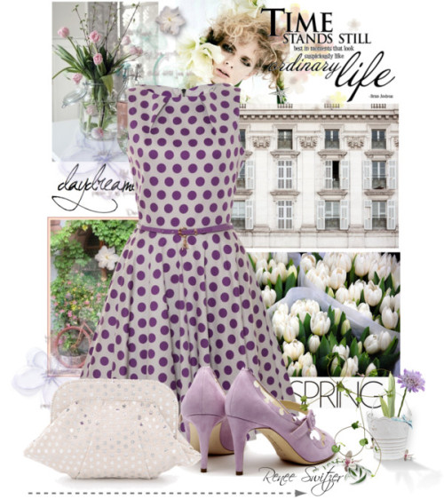 Polka Dots by renee-switzer featuring a flare dress ❤ liked on Polyvore