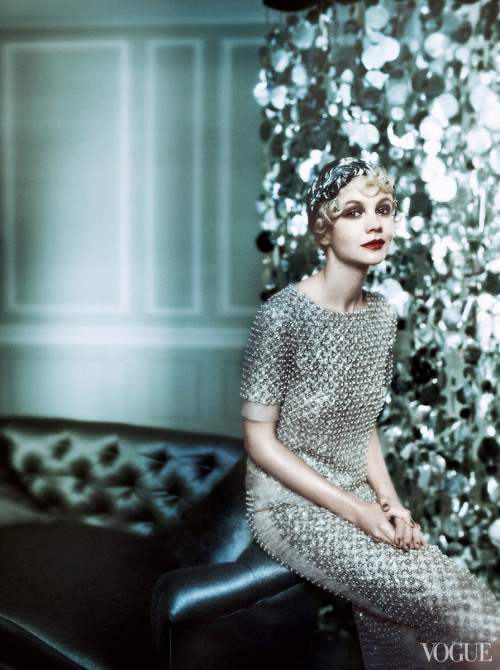 Carey Mulligan channels her Gatsby character in Oscar de la Renta for Vogue, shot by Mario Testino