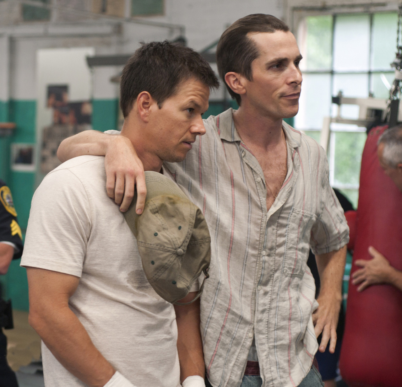 "Mark Wahlberg y Christian Bale en ""The Fighter"", 2010"