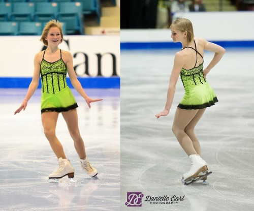 Hayleigh Bell's free program costume at the 2012 Novice Canadian National Championships and 2013 Junior Canadian National Championships. Sources: www.flickr.com/photos/24291681@N08/6789841579/ www.flickr.com/photos/24291681@N08/8602535273/